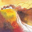 Golden Harvest mini landscape by artbyrachel