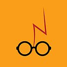 Harry Potter - Glasses and scar - Orange by EF Fandom Design