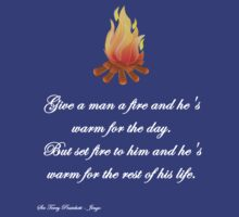 Give A Man Fire - Sir Terry Pratchett by Buleste