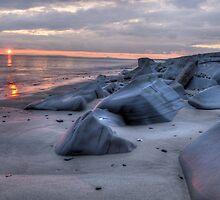 tywyn sunset  by tim williams