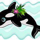 Orca Whale with a Flower by TheBluePlanet