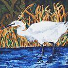 Egret Wading in the Marsh by Jennifer Ingram