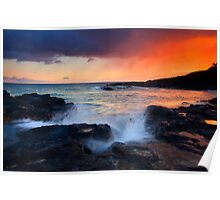 Sunset Storm Passing Poster