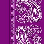 Purple and White Paisley Bandana   by ShowYourPRIDE