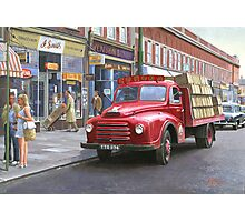 "Morris ""Corona soft drinks"" lorry. Photographic Print"
