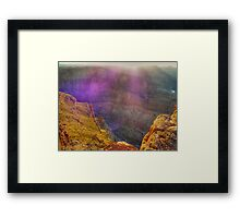 Purple haze - catching the sunset at the Grand Canyon Framed Print