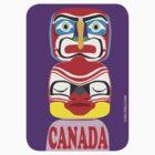 Canada Totem Purple Sticker by curlyorli
