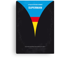 No086 My Superman minimal movie poster Canvas Print