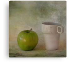 With green apple Canvas Print