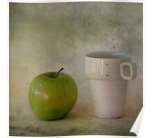 With green apple Poster