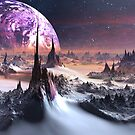 Winter on Planet Amethystonia by SpinningAngel