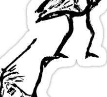 balancing crickets Sticker