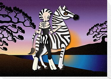 Twisted - Wild Tales: Etana and the Zebra by Lauren Eldridge-Murray