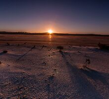 Setting Sun at Lake Cowan by Robin Young