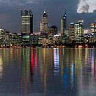 Perth City Skyline 2012 by Glen  Robinson