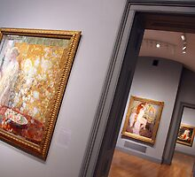 Three Rooms, Three Paintings by Cora Wandel