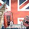 London collage against Union Jack by Delphimages