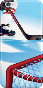 Hockey Player  iPhone 5 Case / iPhone 4 Case  by CroDesign