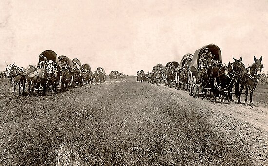 wagon train by tego53