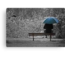 lunch break under the rain Canvas Print