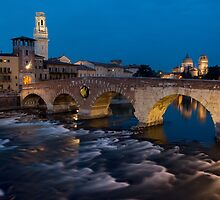 Ponte Pietra, Verona, Italy by Cliff Williams