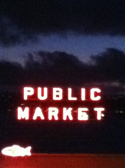 Seattle Pike Place Market by Julie Van Tosh Photography