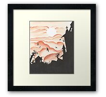 Blood Red Sky Framed Print