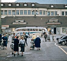 Thun Railway station Interchange  1957 09220008 by Fred Mitchell
