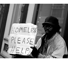 Homeless on the Street Photographic Print