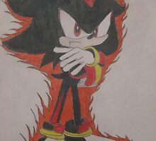 Shadow The Hedgehog Drawing by Tyler Jones