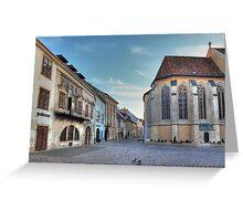 Sopron street III Greeting Card