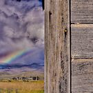 Storm and Rainbow Behind the Shed by SRLongstroth