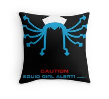 CAUTION Squid Girl Alert! degeso~ Throw Pillow