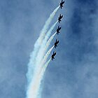 Navy's Blue Angels F-18 Hornets iPhone case by Lisa Holmgreen