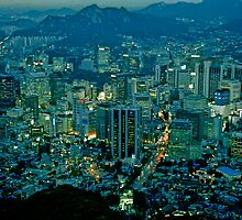 Dusk in Seoul by Anthony Woolley