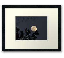 Carolina Super Moon Framed Print