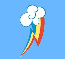 Rainbow Dash iPhone/iPod Touch case by Zarrex