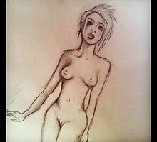 Nude sketch Part A by Sarah-Jo Archbold