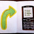 """Phone""-Sketchbook Project (Limited Edition) 2012 by Belinda Leopold"