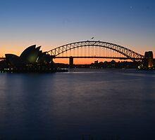 Sunset over Sydney by melalekna