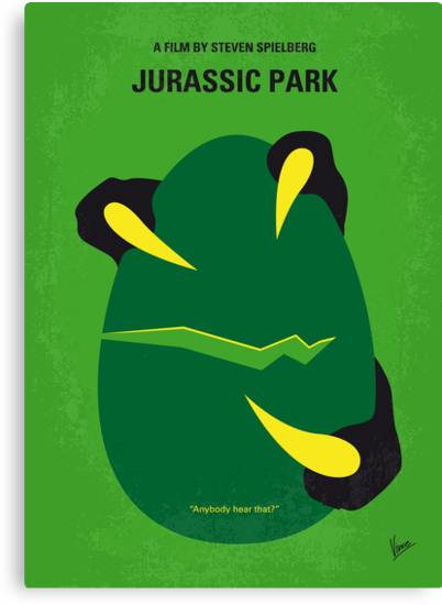 No047 My Jurassic Park minimal movie poster by Chungkong