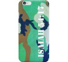 Camouflage Isaiah 54:17 iPhone Case/Skin