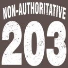 Team shirt - 203 Non-Authoritative, white letters by JRon
