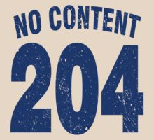 Team shirt - 204 No Content, blue letters by JRon