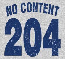 Team shirt - 204 No Content, blue letters Kids Clothes