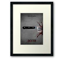 Dexter - blood serie Framed Print