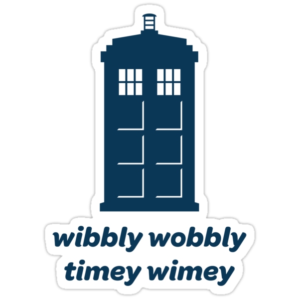 Wibbly Wobbly Timey Wimey Shirt (Lighter Colors) by MikeZuniga