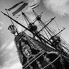Stern of the Batavia, Lelystad The Netherlands by M. van Oostrum