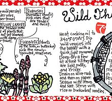 Illustrated Recipe: Wild Things Tempura by dosankodebbie