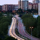 Vertical View of City Traffic by photoshot44